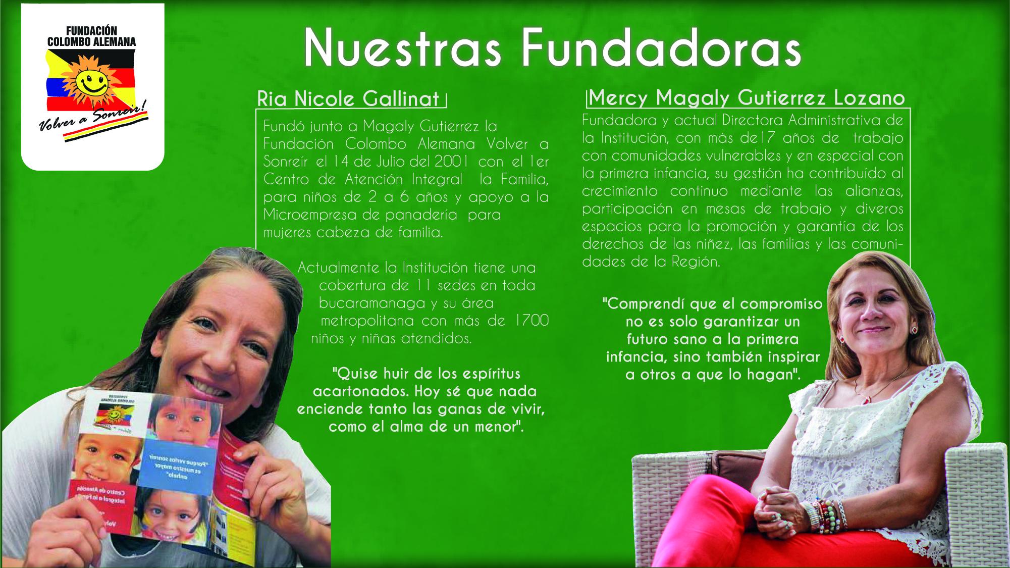 FUNDADORAS FUNDACIÓN COLOMBO ALEMANA